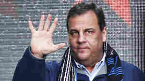 New Jersey Governor Chris Christie waves to guests as he attends the Super Bowl Hand-Off Ceremony in New York on Saturday.