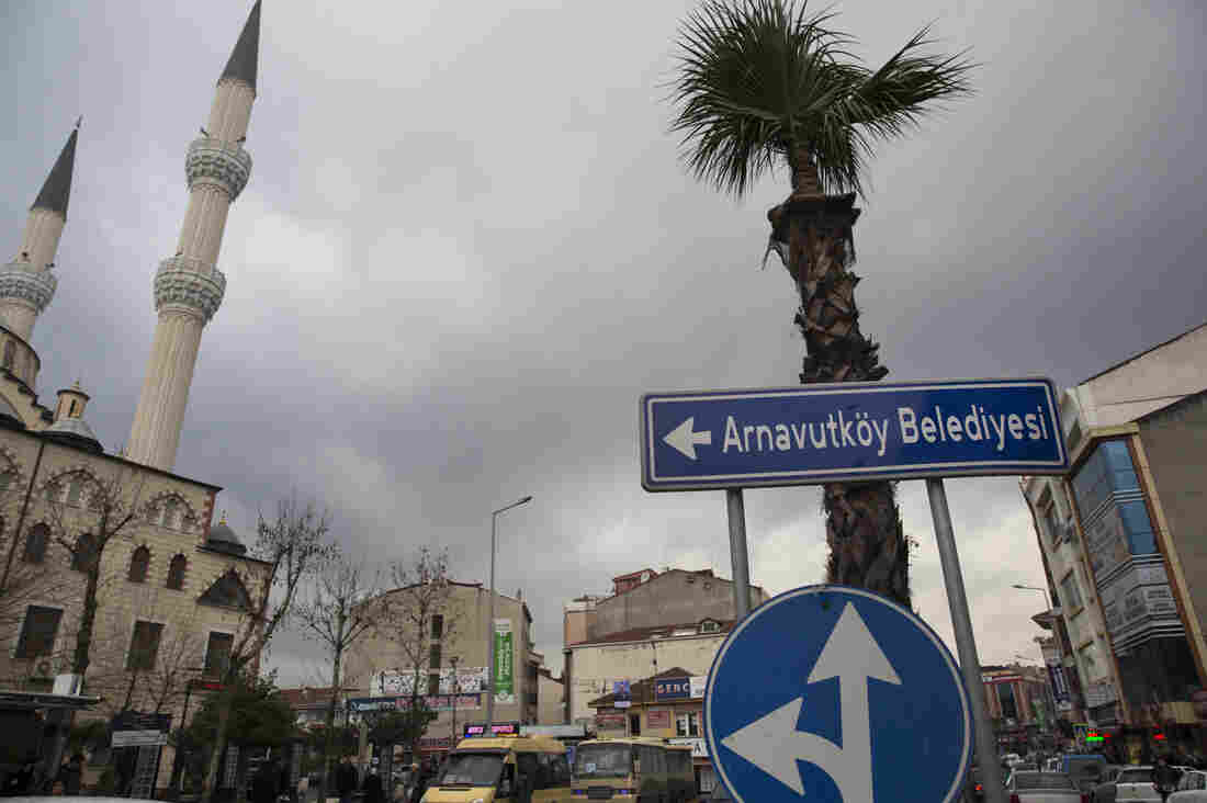 The center of Istanbul municipality Arnavutkoy, a fast-growing residential area of Istanbul miles away from the city center. Investors hope the planned Istanbul Canal project would generate huge profits. Environmentalists warn it would be a disaster for water quality in the Bosphorus and adjoining Marmara Sea.