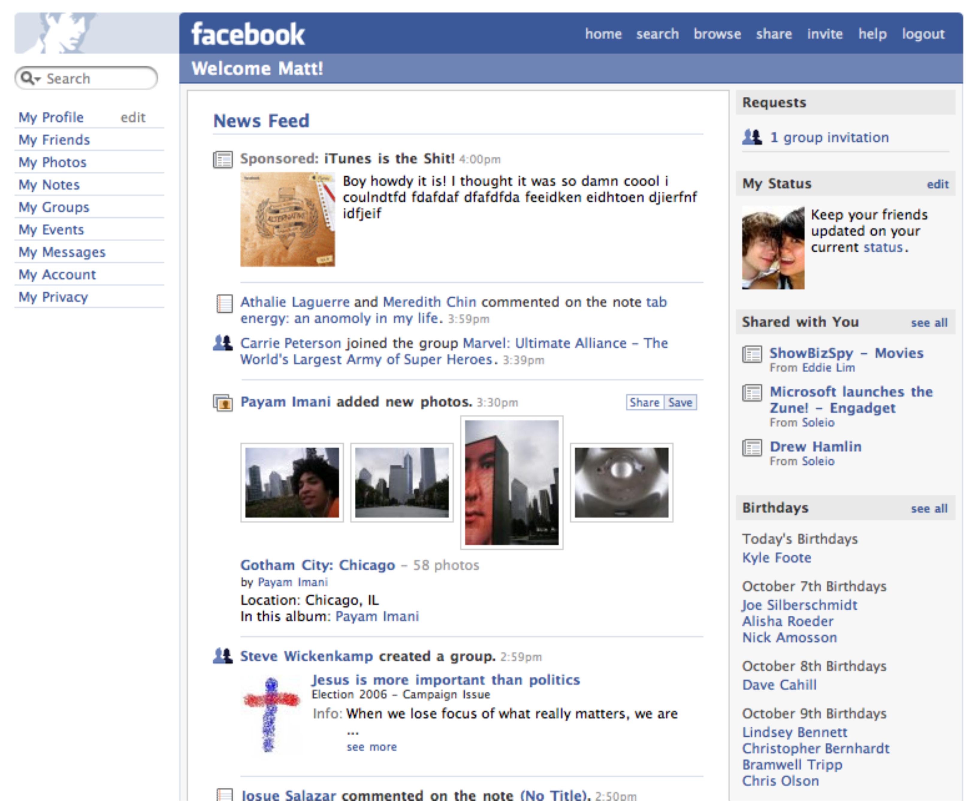 Бизнес и инновации - Юбилей новостной ленты Facebook. Как все начиналось