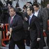 New Jersey Gov. Chris Christie leaves the Fort Lee, N.J., City Hall on Jan. 9.