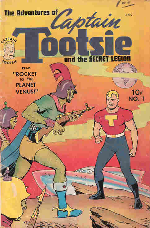 Captain Tootsie was created in the 1940s to promote Tootsie Rolls and RC Cola.