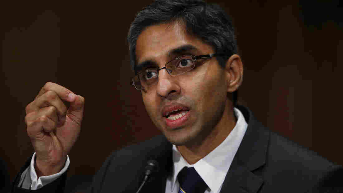 Dr. Vivek Murthy, President Obama's nominee to be the next U.S. surgeon general, testifies Tuesday on Capitol Hill before the Senate Health, Education, Labor and Pensions Committee hearing on his nomination.
