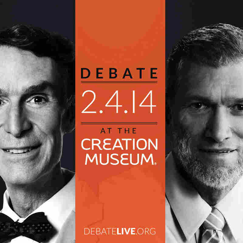 Bill Nye, left, and Ken Ham will debate the issue Tuesday at 7 p.m. ET.