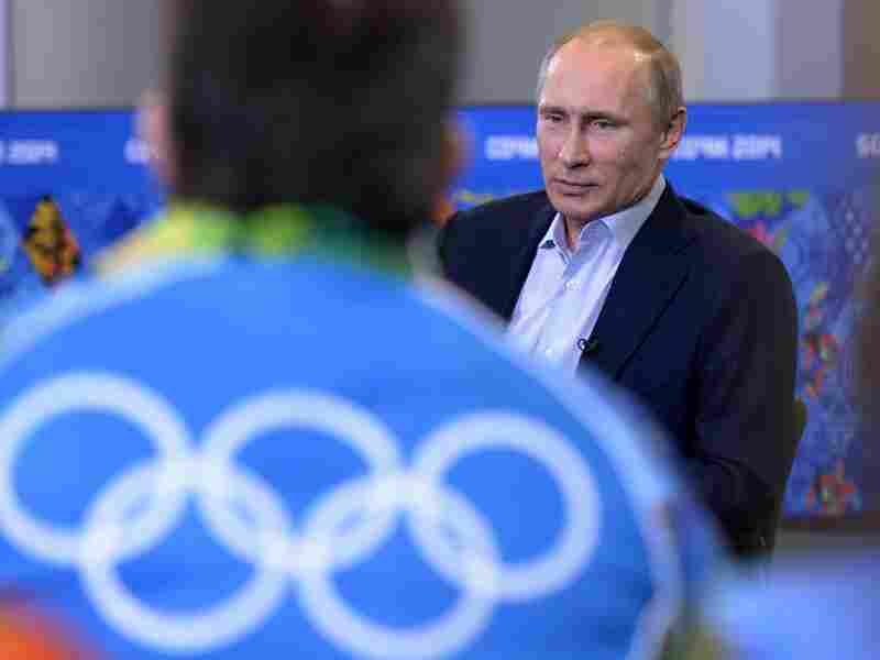 Russian President Vladimir Putin speaks with Olympic volunteers in Sochi, Russia, in January.