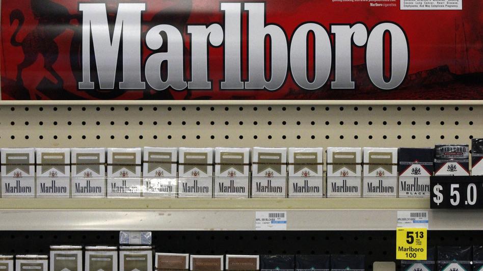 Soon to be gone: Marlboro cigarettes on display at a CVS store in Pittsburgh last July. (Gene J. Puskar/AP)