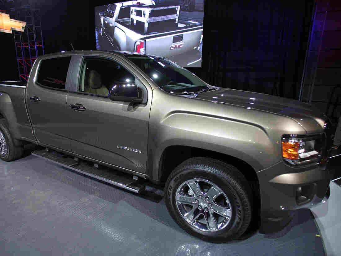 The new 2015 GMC Canyon midsize truck was on display last month the 2014 North American International Auto Show in Detroit.