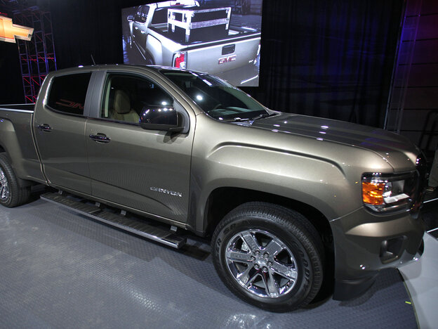 The new 2015 GMC Canyon midsize truck was on displ