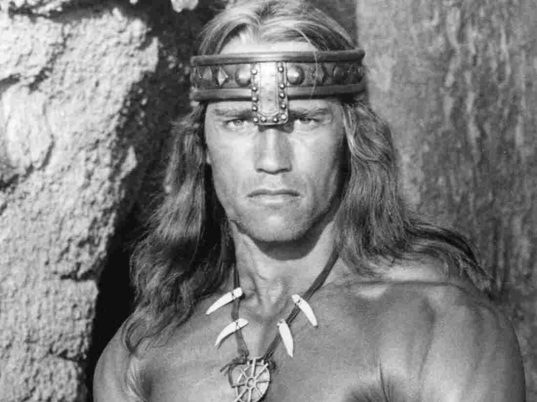 Arnold Schwarzenegger as Conan.