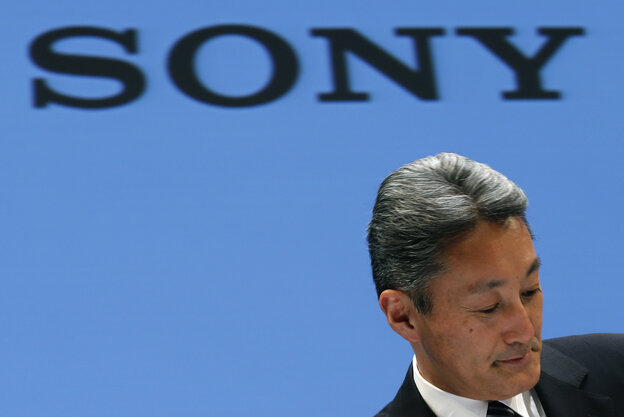 Sony Corp. President and CEO Kazuo Hirai during a press conference at Sony headquarters in Tokyo on Thursday.