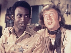 Cleavon Little and Gene Wilder in a scene from Blazing Saddles in 1974.