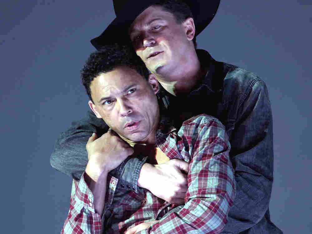 Tom Randle (left) and Daniel Okulitch star in the opera Brokeback Mountain.