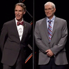 Bill Nye (left) and Ken Ham debated whether creation is a viable model of origins in the modern scientific era during a lengthy debate Tuesday. The points they raised have fueled an online conversation that continues.
