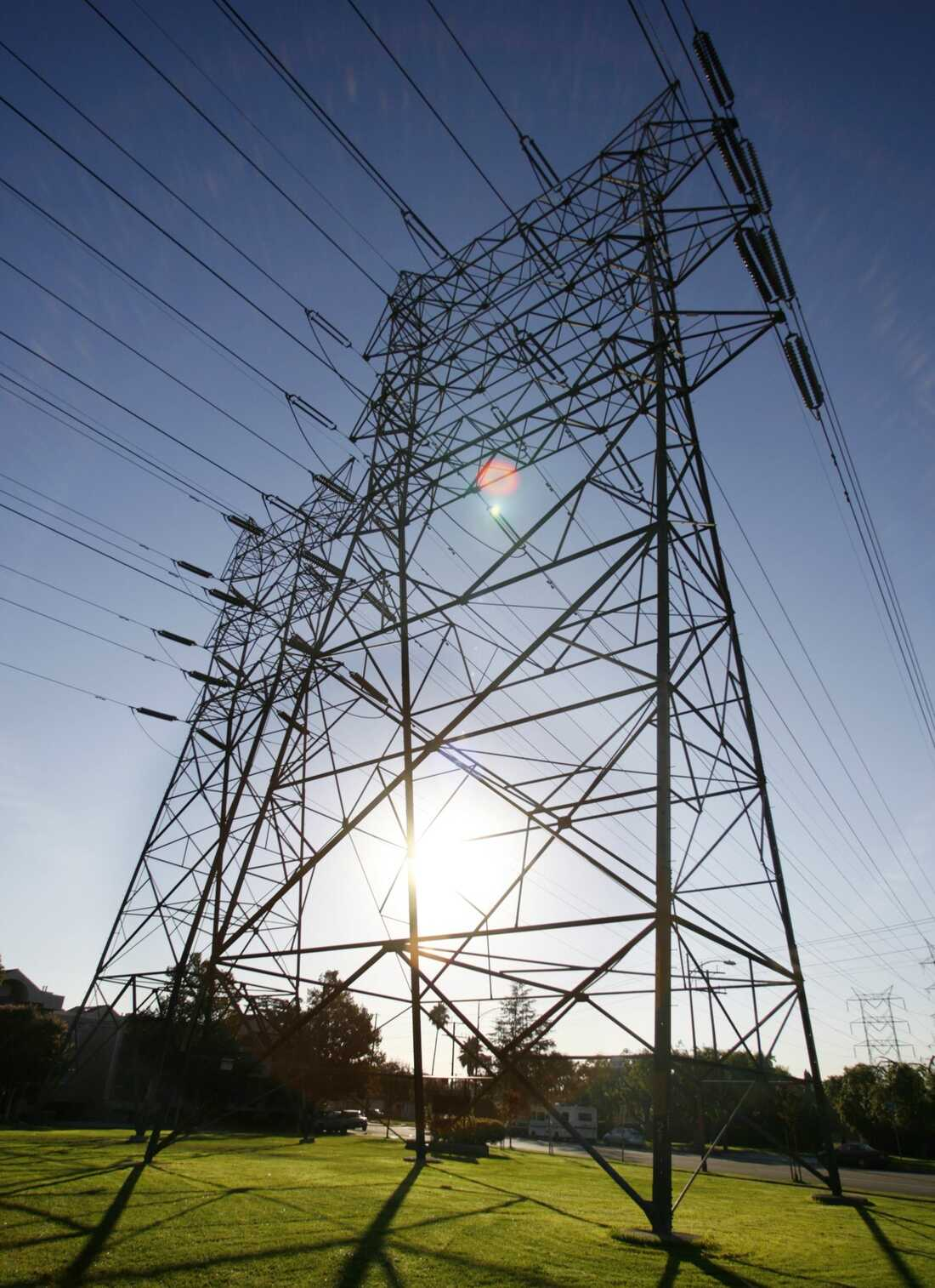 Power lines in Burbank, Calif.