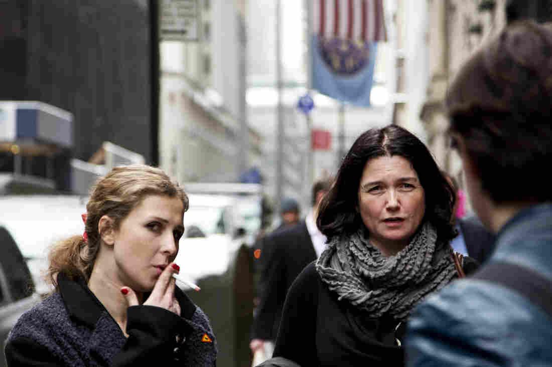 "Maria ""Masha"" Alyokhina (left) of Pussy Riot in New York City."