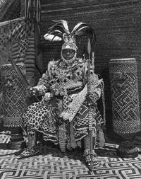 Portrait of Kubanyim Mbopey Mabiintsh ma-Kyeen, taken in 1947 in Mushenge, Congo.