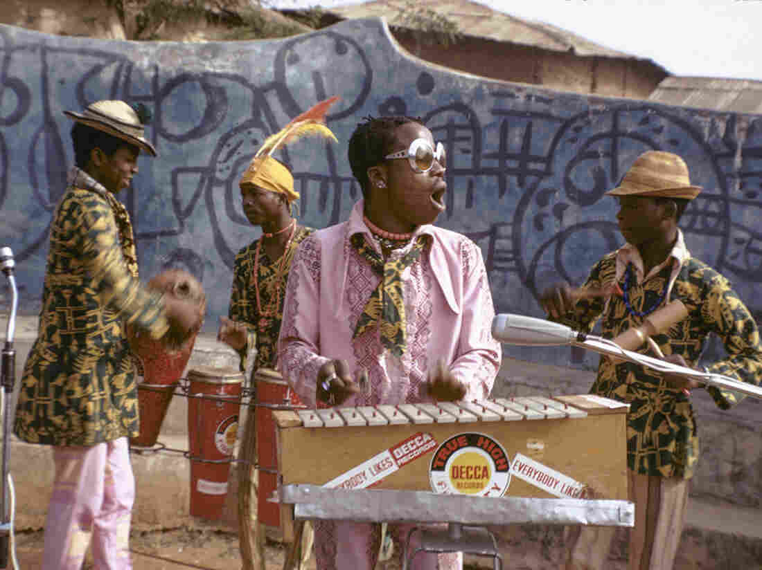 Twins Seven-Seven and jazz band in 1971, Oshogbo, Nigeria.