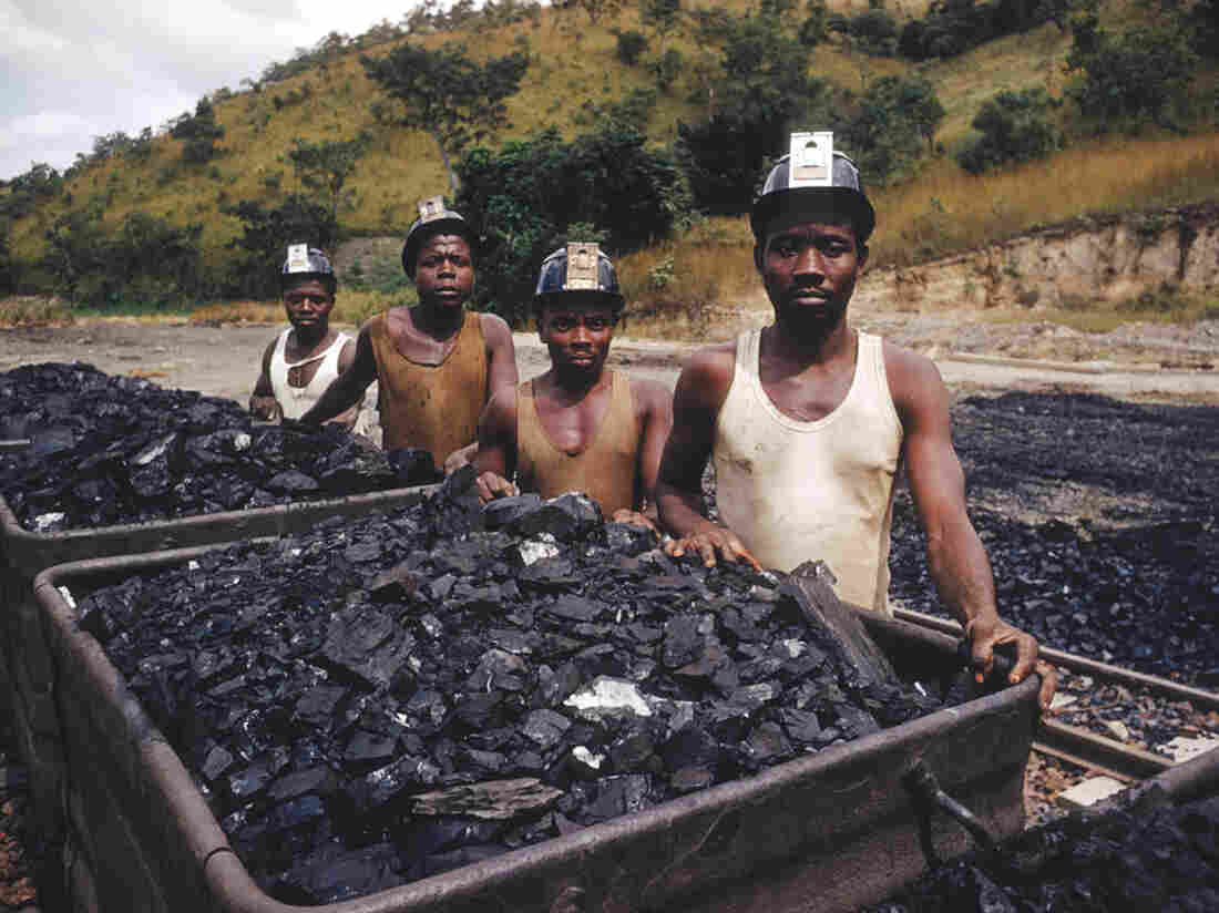 Workers at Ekulu coal mine in 1959, near Enugu, Nigeria.