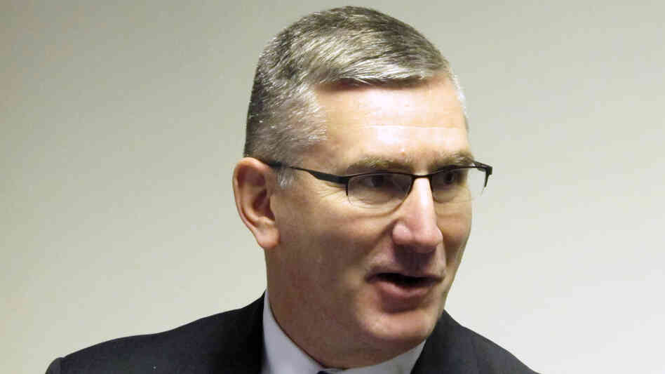 Lt. Gov. John Walsh defending himself in Helena, Mont., on Jan. 26 against reports that he was reprimanded by the U.S. Army in 2010 for using his position as Montana adjutant general to solicit National Guard memberships to a private organization.