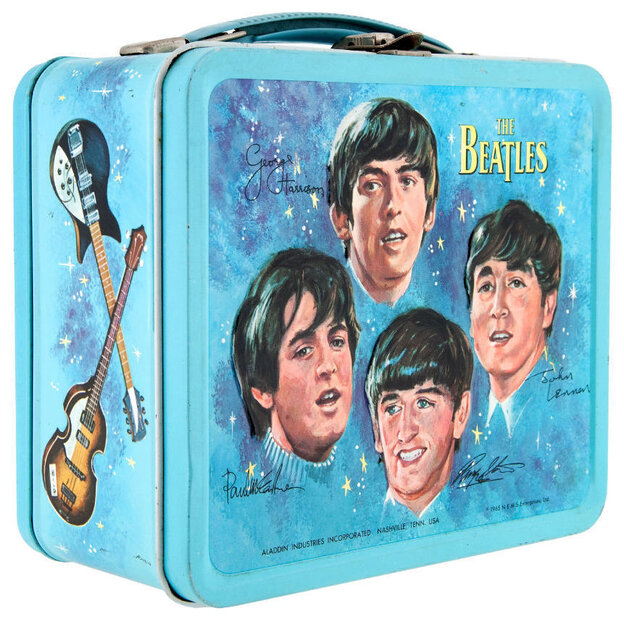 """I want to hold your lunch! This 1965 lunchbox — considered """"one of the Holy Grails"""" of lunchbox collecting — sold for $936.10 in 2013. It came with a thermos. Another mint condition sample sold for $1,625 last fall."""