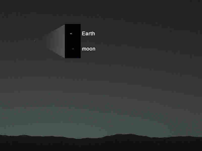 Our old eyes aren't much good on this one, but NASA's also pointed to Earth's moon.