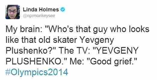 "A tweet tagged ""#Olympics2014."""