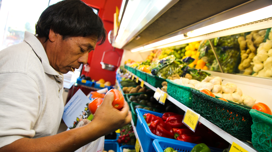 Euclid Market, a corner store in East Los Angeles, recently got a makeover to promote healthier eating. It not only sells more fruits and vegetables, but also offers cooking classes and nutrition education. (Courtesy of Margaret Molloy/UCLA Fielding School of Public Health)