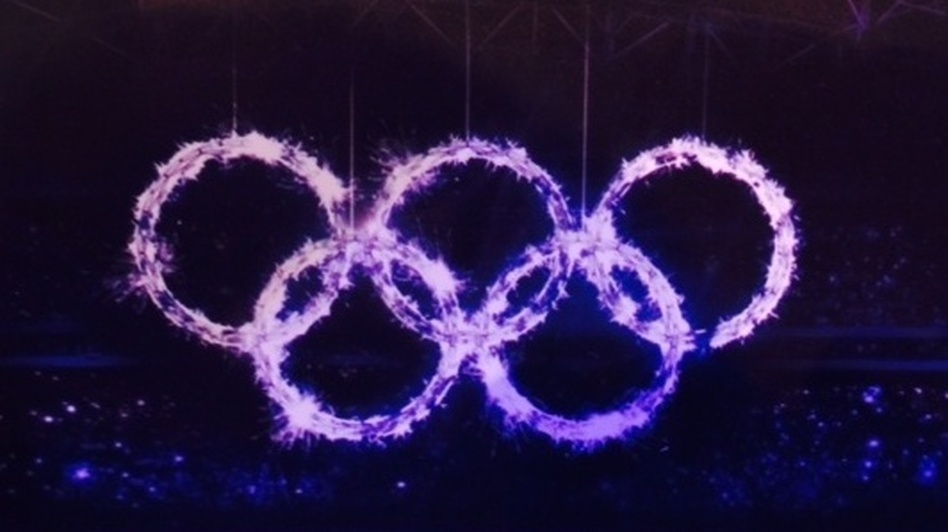 What it was supposed to look like: NPR's Robert Smith sent us this image from the Sochi media guide, previewing how Olympic rings were meant to be displayed in the Opening Ceremony. (NPR)