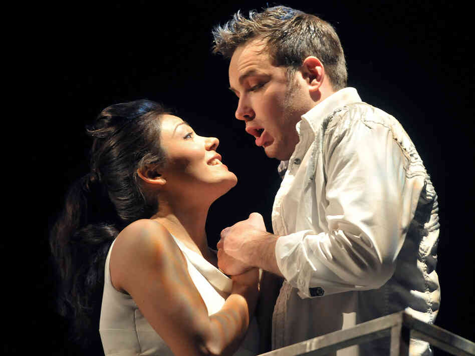 Soprano Ailyn Perez and tenor Stephen Costello met in music school. Now married, the couple sings together around the world — as in Gounod's Romeo and Juliet at Opera Philadelphia in 2001.