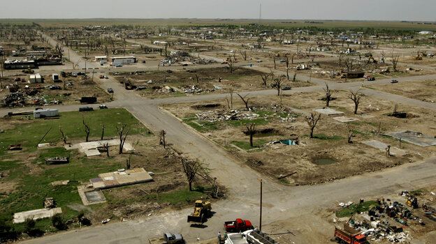 The community of Greensburg, Kan., was hit hard by an F5 tornado in 2007. The event inspired one resident to run for mayor.