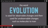 "Slide from Ken Ham in debate with Bill Nye: ""evolution"" hijacked (2)"