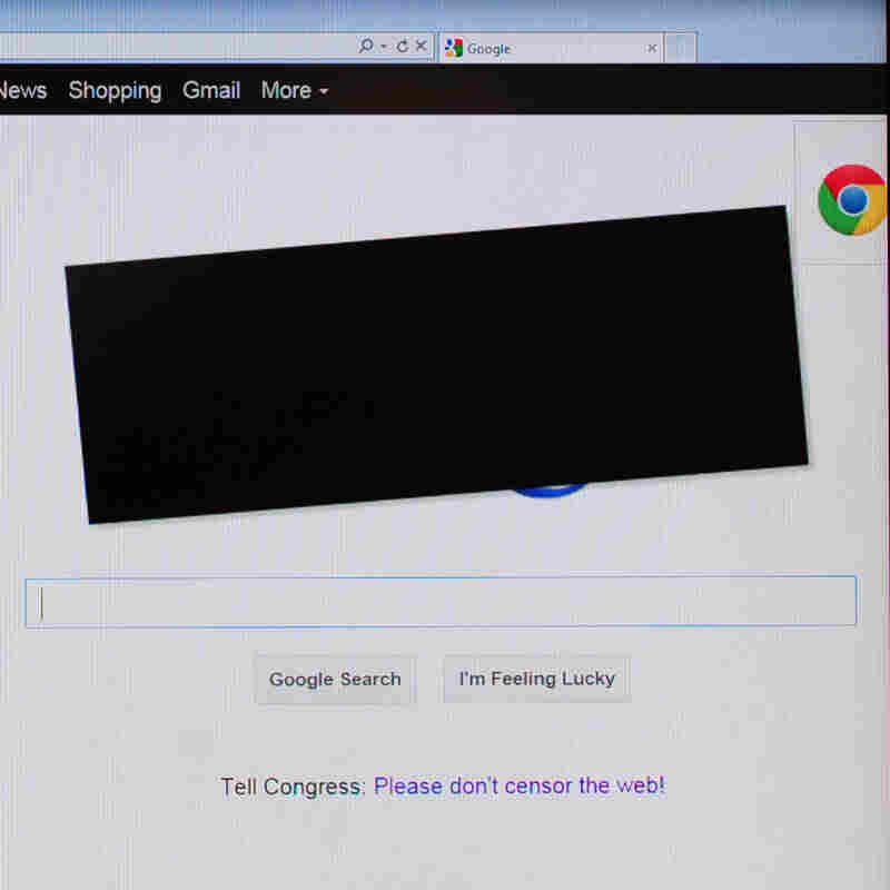 Remember this? On Jan. 18, 2012, Google put a black redaction box over its logo to oppose federal legislation intended to crack down on online piracy.