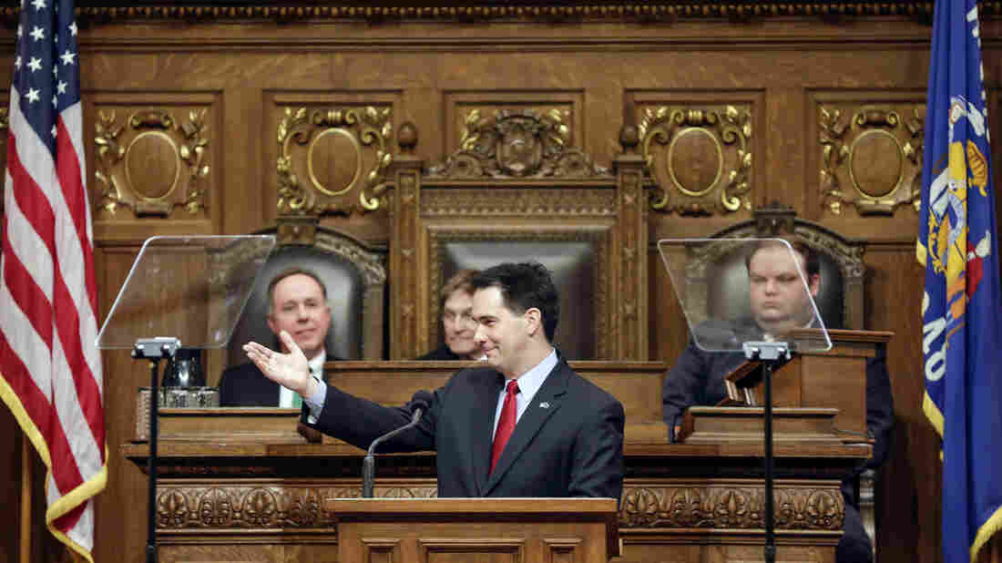 During his January State of the State address, Wisconsin Gov. Scott Walker made the case that extra money should be returned as property and income tax cuts; some Republicans say his proposal goes too far.