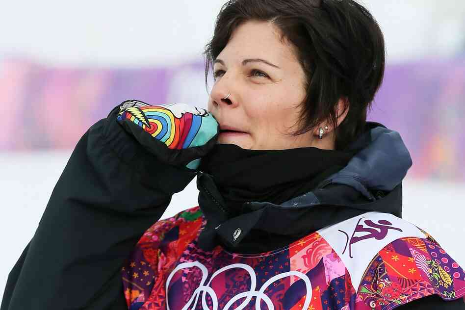 Cheryl Maas of the Netherlands, after her second run in the women's snowboard slopestyle semifinal in Sochi on Sunday.