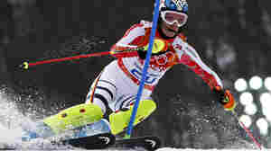 Germany's Hoefl-Riesch Wins Women's Super-Combined Skiing