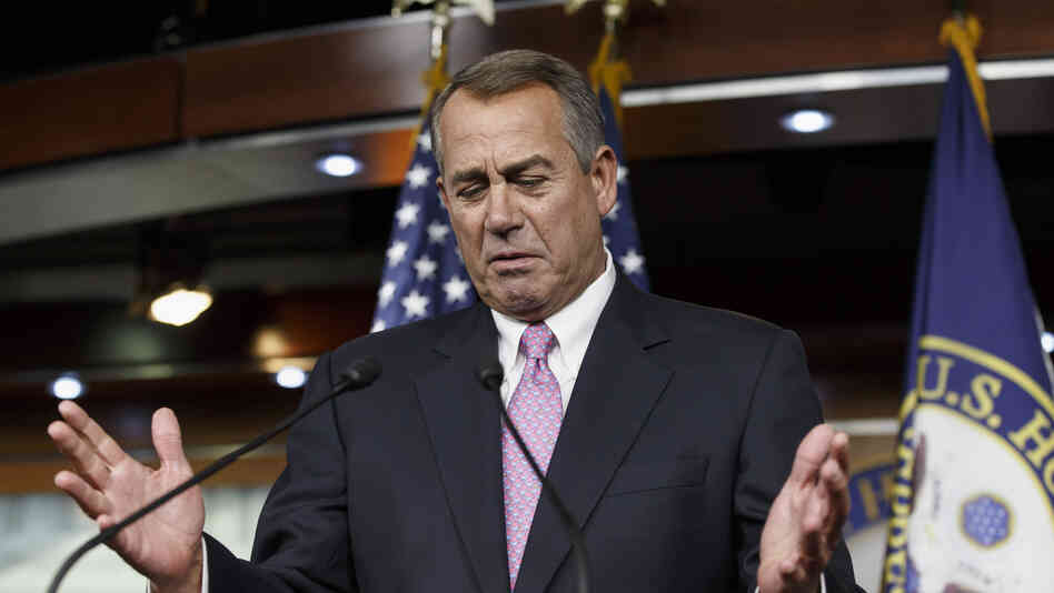 House Speaker John Boehner of Ohio gestures while speaking during a Feb. 6 news conference on Capitol Hill.