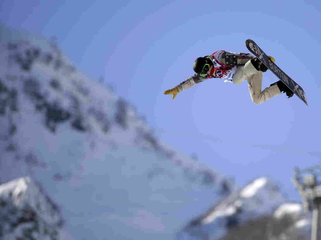 Shaun White of Team USA during a training session Satu