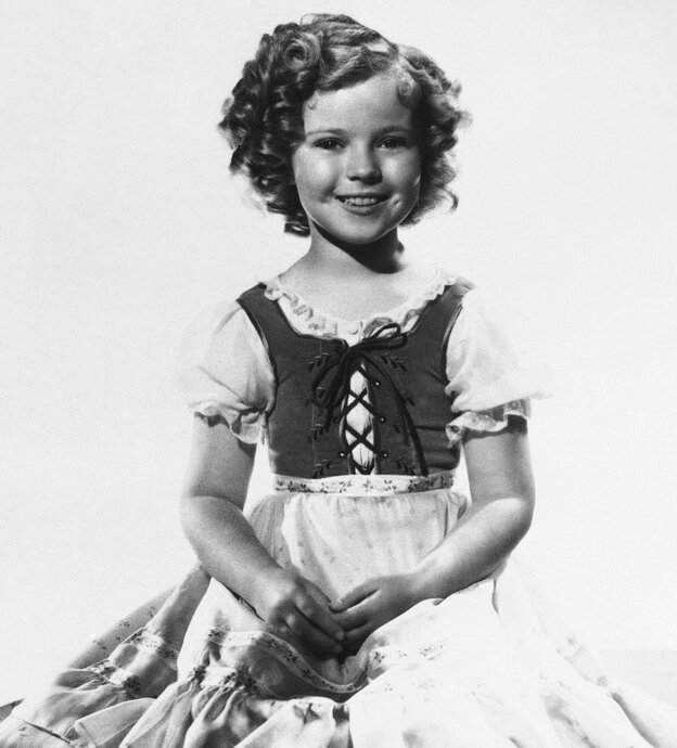 Shirley Temple when she was the nation's biggest movie star.
