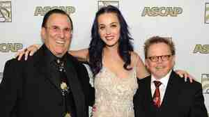 ASCAP CEO John LoFrumento, member Katy Perry and president Paul Williams at the 2012 Annual ASCAP Pop Music Awards in Hollywood, Calif.