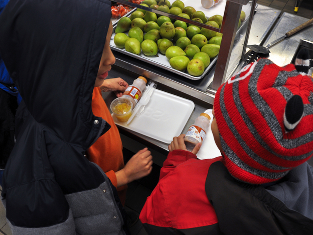 "When schools close for bad weather, some kids miss out on much-needed nutritious meals. ""It's hard to be a hungry person, and it gets harder when the weather is like this,"" Nancy Roman, president of the Capital Area Food Bank in Washington, D.C., says of severe cold and snow."