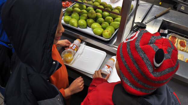 """When schools close for bad weather, some kids miss out on much-needed nutritious meals. """"It's hard to be a hungry person, and it gets harder when the weather is like this,"""" Nancy Roman, president of the Capital Area Food Bank in Washington, D.C., says of severe cold and snow."""