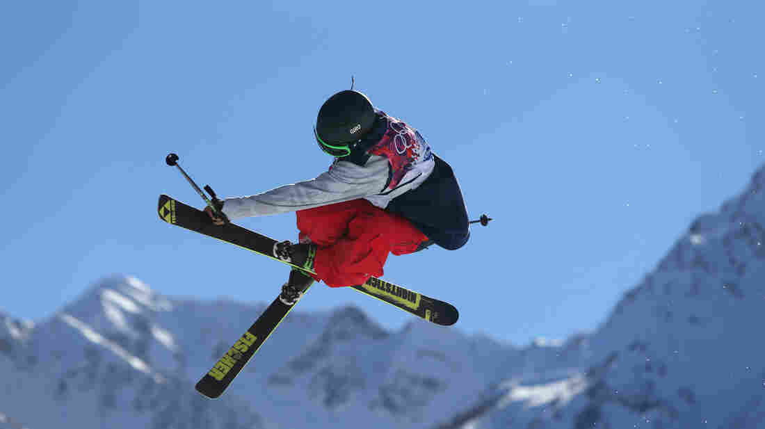 Joss Christensen of the U.S. won gold in the men's ski slopestyle final Thursday at the Rosa Khutor Extreme Park in Krasnaya Polyana, Russia.