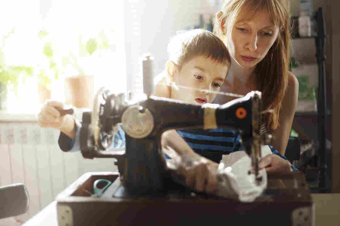 """Getty's new collection of stock images of women and families veers away from the """"overworked mom"""" stereotype."""