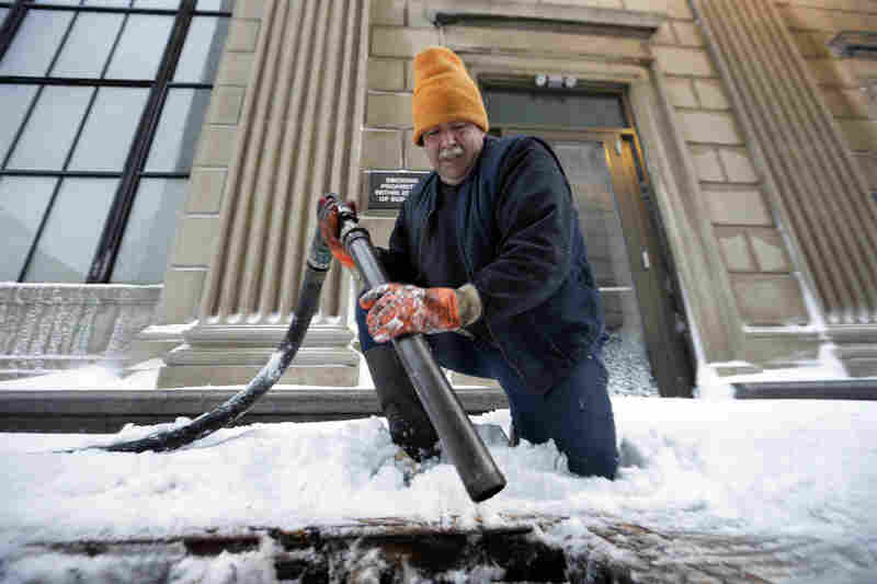 John Wood delivers heating oil in Trenton, N.J.