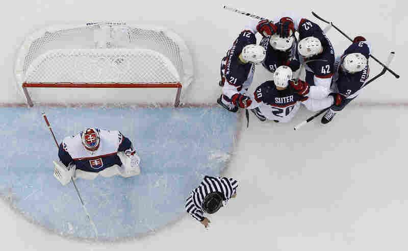 Team USA crushed Slovakia on Thursday, 7-1.