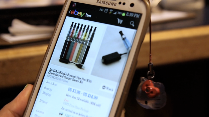 """Kids as young as 13 purchase e-cigarettes, or """"vape pens,"""" online, where independent sellers don't necessarily ask a buyer's age."""