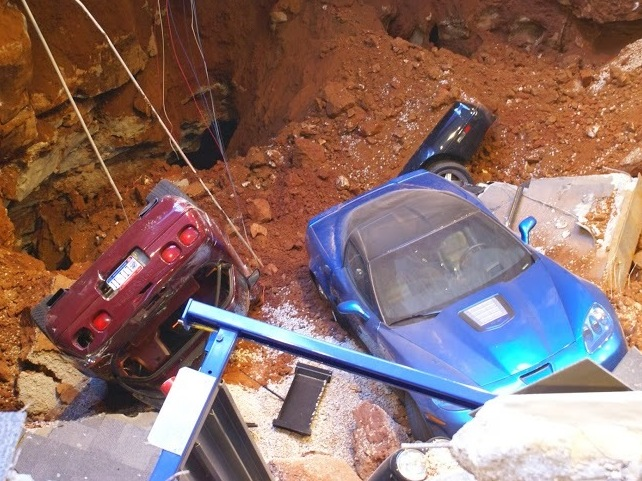 WATCH: Cameras Capture Corvettes Being Sucked Into Sinkhole