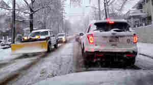 Traffic on Staten Island during a winter storm earlier this month. New York is among the states affected by a shortage of rock salt.