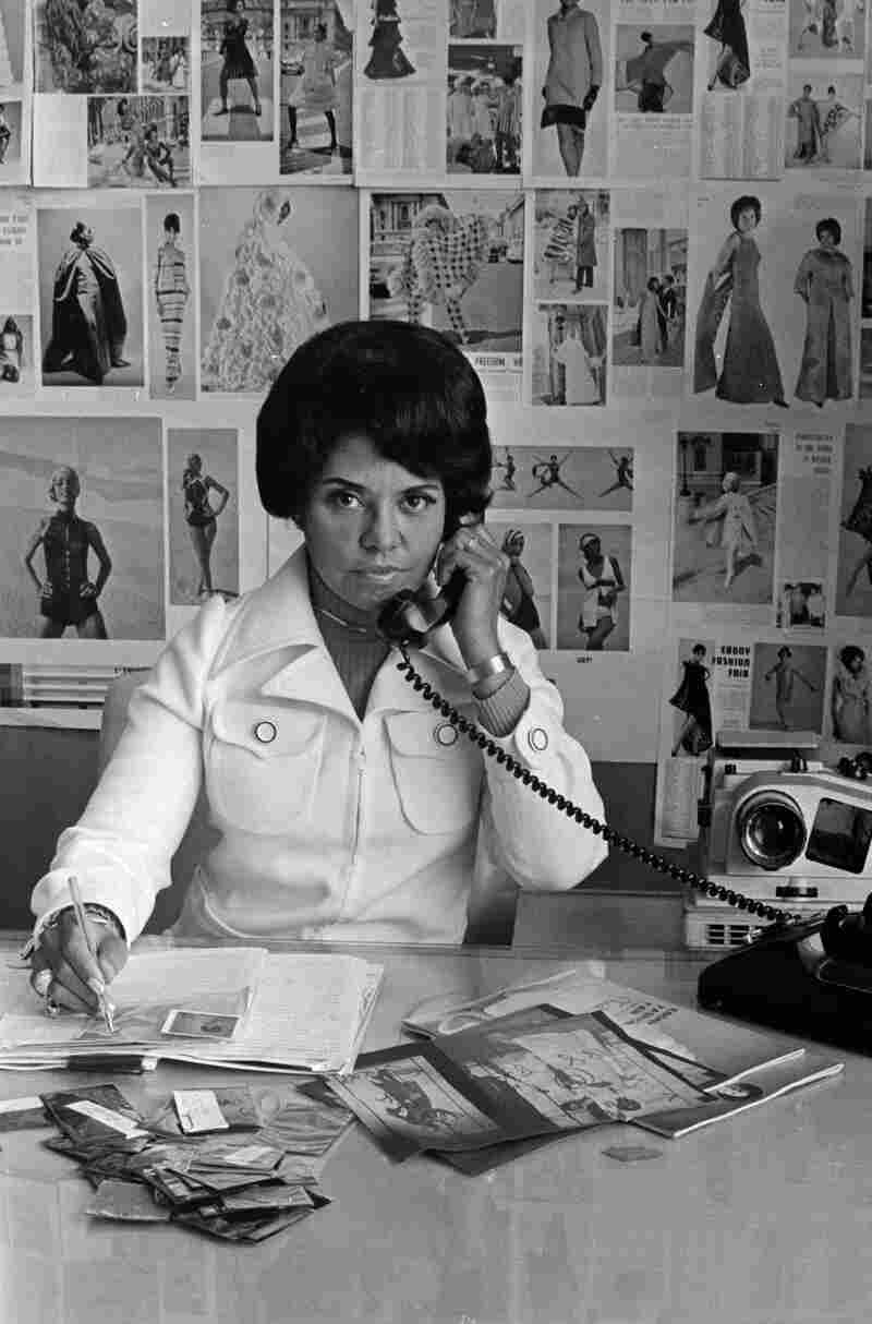 Eunice Johnson at work, 1970.