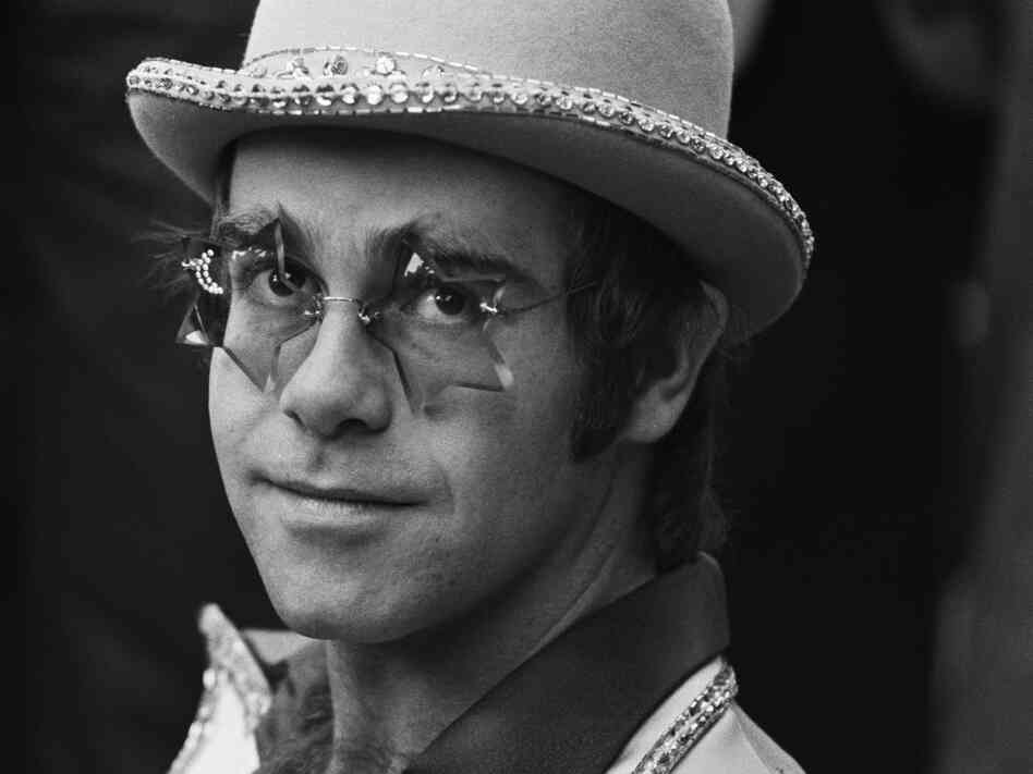 "Singer-songwriter Elton John in 1975, a few years after releasing one listener's favorite tune, ""Your Song."""