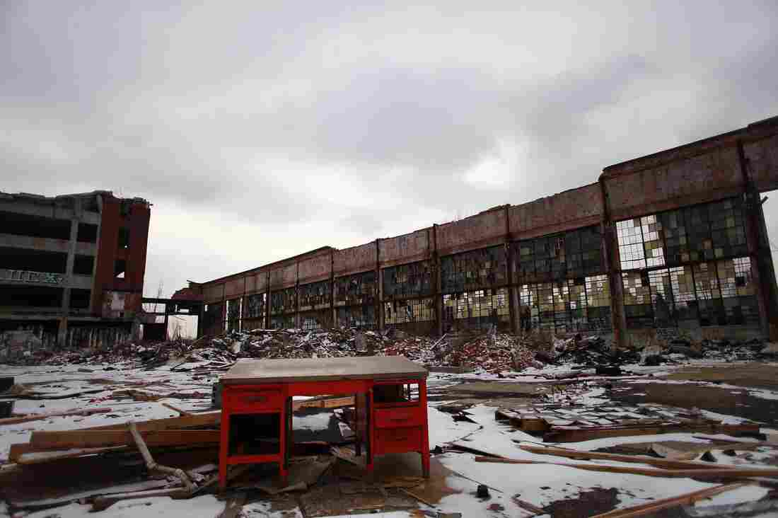 Detroit has an estimated 80,000 abandoned buildings, like this Packard Automotive Plant. To decide which buildings can be demolished, officials started a large, high-tech mapping project.